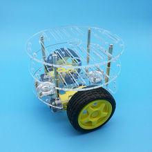 1 set 2WD Intelligente Robot Auto 3 Strati Acrilico Chassis Kit con Speed Encoder Per Arduino Promozione Spedizione Gratuita