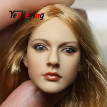 1:6 Scale women's Sculpt Model CY girl female KUMIK13-12 head Carving Figure Accessories F 12'' PHicen HTTOYS Action Figure Body gc005 1 6 european female beautiful lady head sculpt for 12 collectible phicen vc ud ld nd doll action figure diy