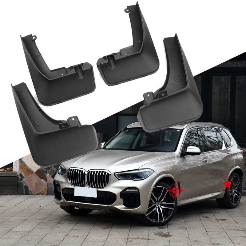 For BMW X5 (G05) M SPORT 2019 2020 Black Car Accessories Mud Guards Splash Flaps Fender Guard|Chromium Styling| |  - title=