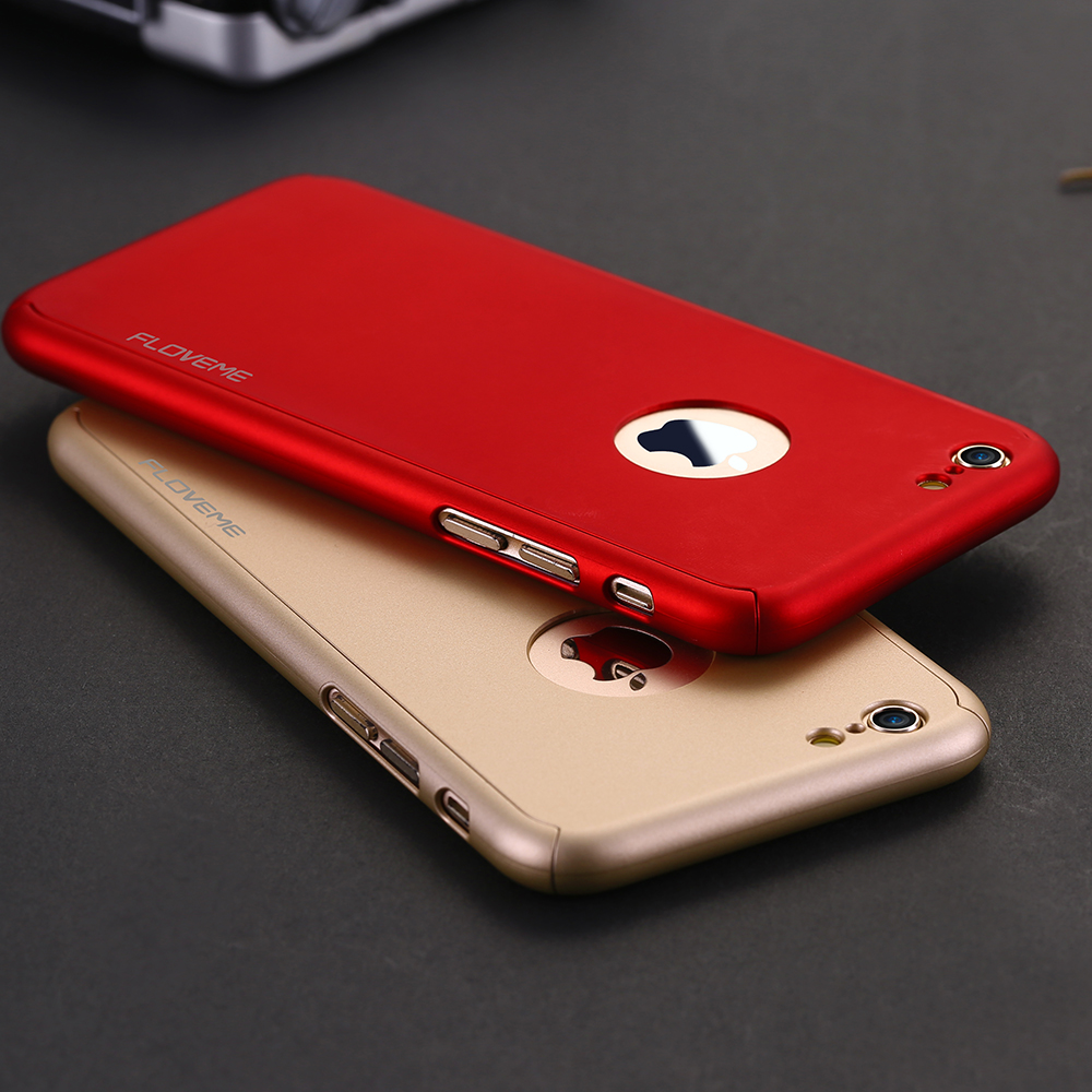 release date 683bc cc6f3 US $4.99 |FLOVEME Coverage Of 360 Degree Hard Plastic Case For Apple iPhone  7 Plus 6 6S Plus Original Phone Cover With Tempered Glass Film-in Fitted ...