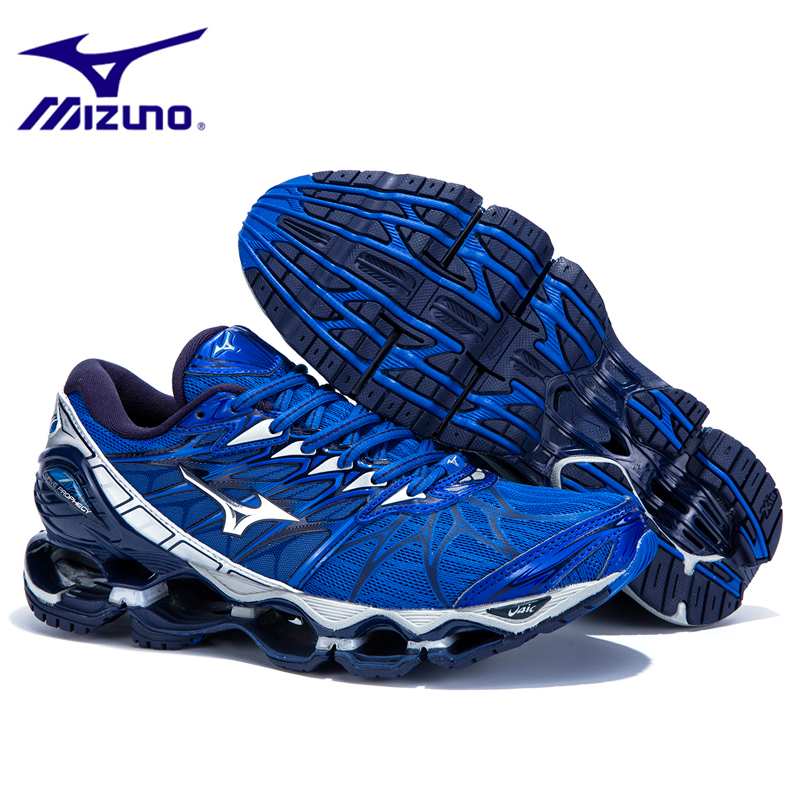 цена на Mizuno Wave Prophecy 7 Professional Original Breathable Cushioning Sport Basketball Shoes 7 colors LightWeight Men Sneakers