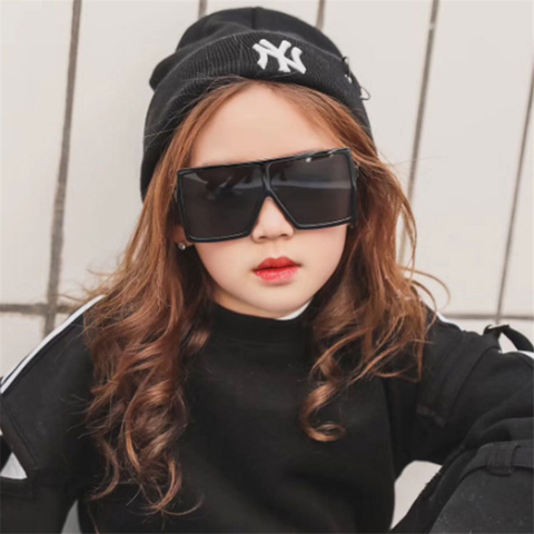 2019 Sunglasses Childrens Brand Designer Large Frame Square Sunglasses Vintage Oversized Sunglasses Travel Boys Girls Tones Karachi