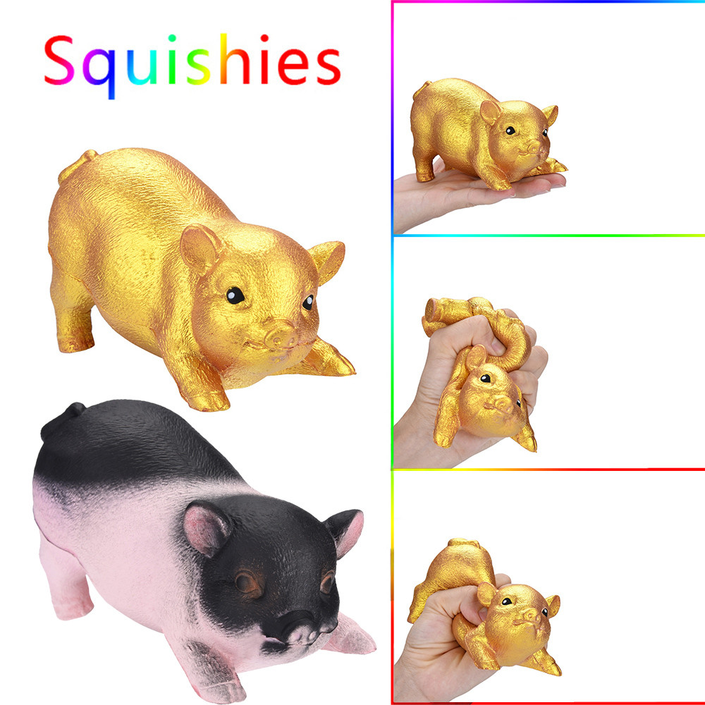 Golden Pig Scented Squishies Slow Rising Kids Toys Stress Relief Toy Hop Props Toys For Children   6.10