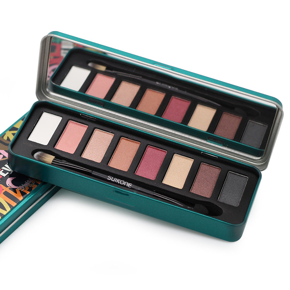Professional 8 Colors Eyeshadow Palette Smoky Makeup -5378