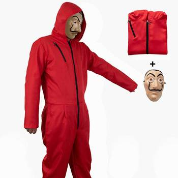 Взрослые дети Сальвадор Дали фильм дом бумаги La Casa De Papel косплэй маска для вечеринок, Хэллоуина деньги Heist костюм и уход за кожей лица маска