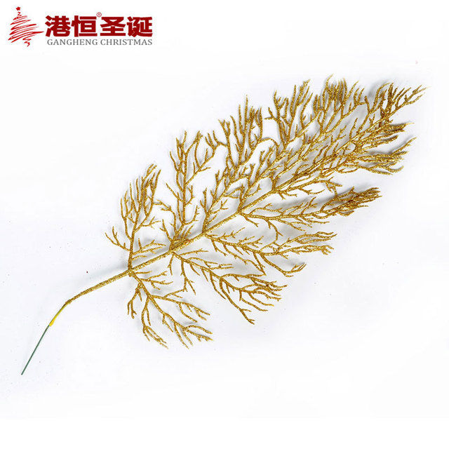 Us 5 44 40 15 Cm Christmas Leaves Decoration Gold Cinnamon Metal Christmas Branches Decorating Christmas Tree Decoration Ornaments 10g In Christmas