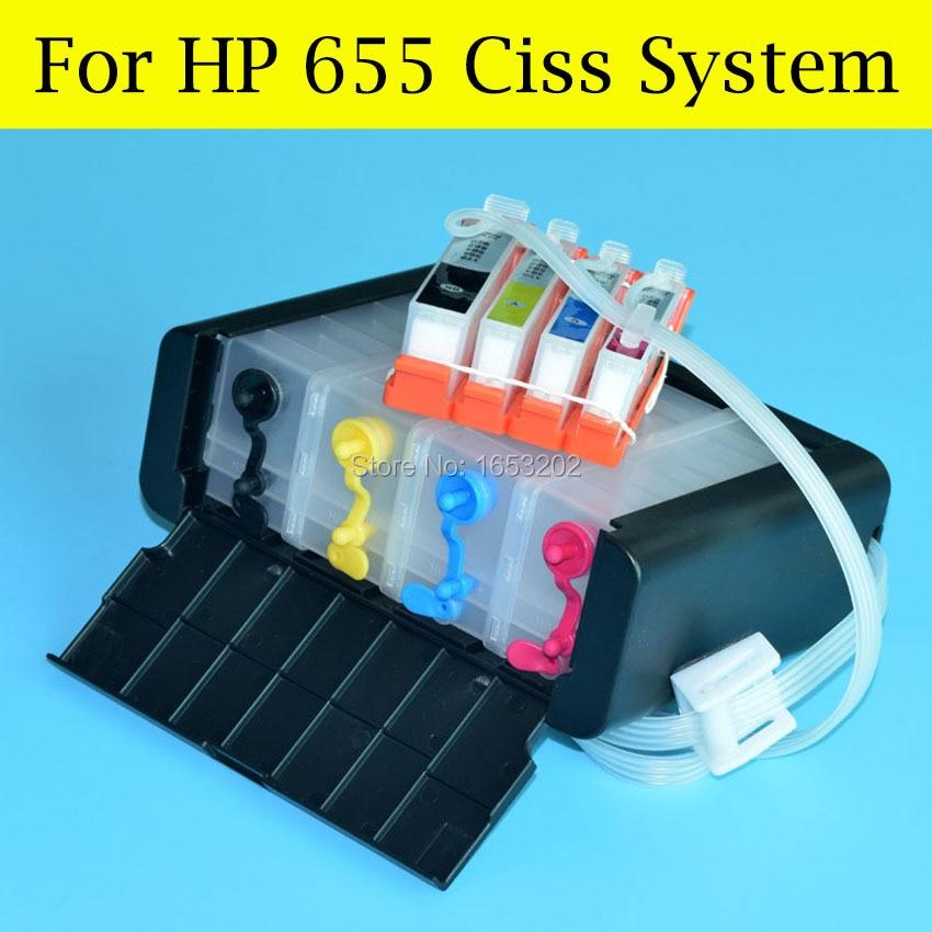 BOMA.LTD 4 rəngli CZ109AE 655 Ciss sistemi HP655 üçün HP Deskjet - Ofis elektronikası - Fotoqrafiya 4