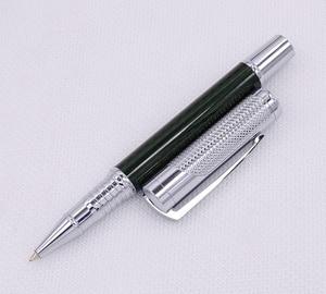 Image 5 - Fuliwen カーボン繊維絶妙なローラーペンとリフィル、ファッションダークグリーン品質筆記ペンオフィスビジネス