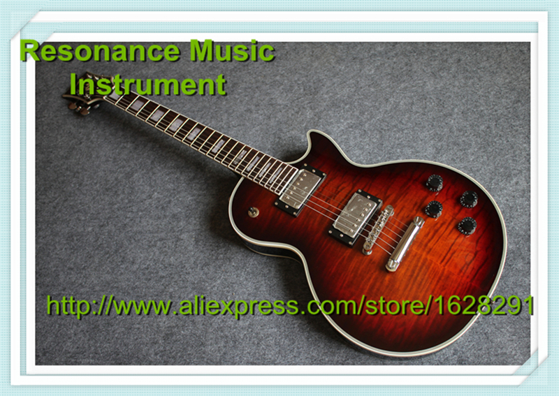First Class Custom Electric Guitar LP Desert Sunburst Quilted Finish Guitar Electrica with White Binding In Stock custom shop china lp electric guitar in desert burst color quilted top guitar body lefty custom available