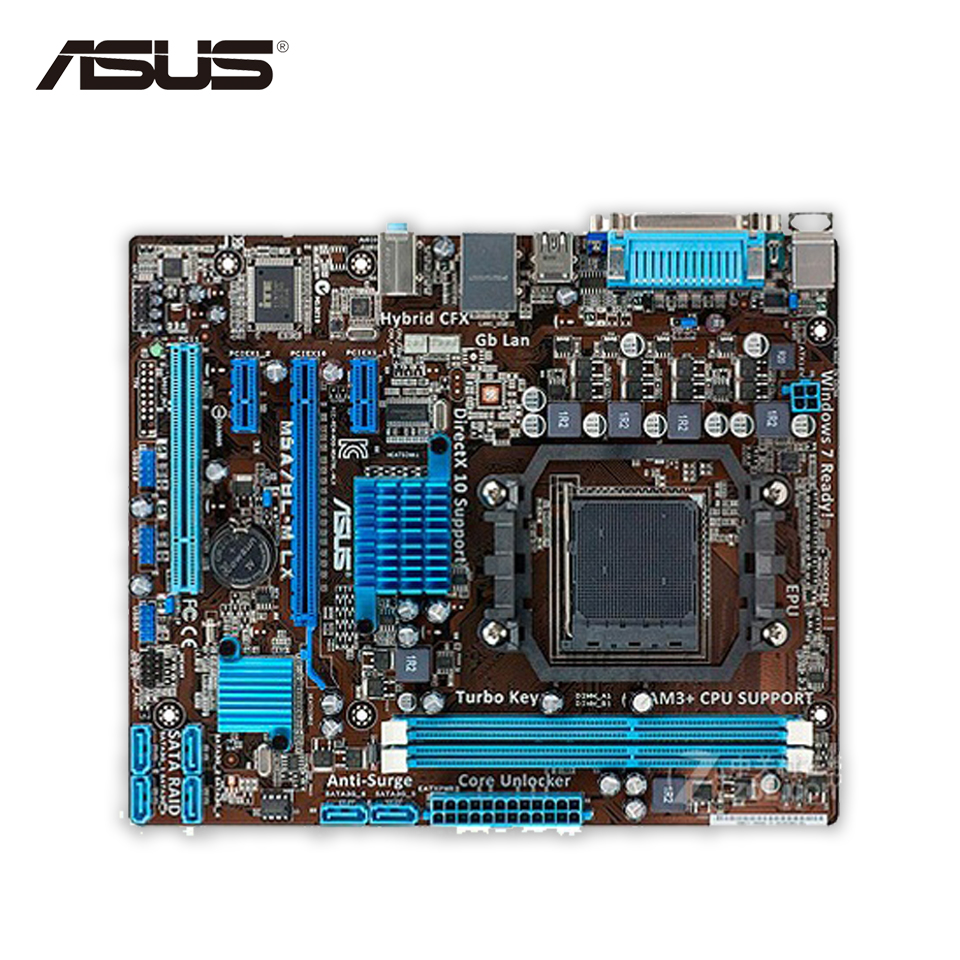 все цены на Asus M5A78L-M LX Original Used Desktop Motherboard 760G Socket AM3+ DDR3 16G SATA2 USB2.0 uATX онлайн