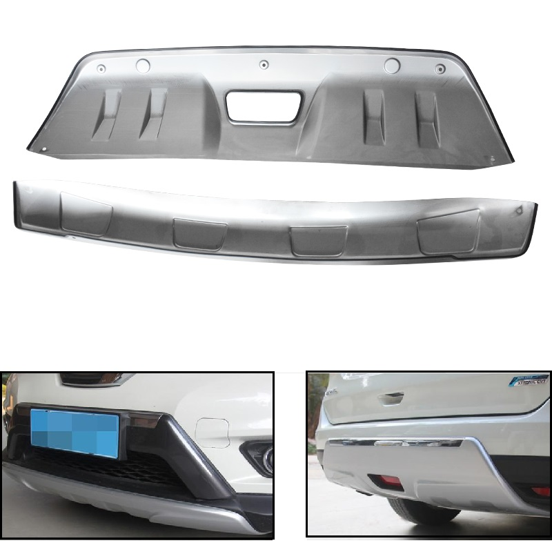 NISSAN QASHQAI II 2014-2016 REAR BUMPER PROTECTOR GUARD STEEL DARK BRUSHED