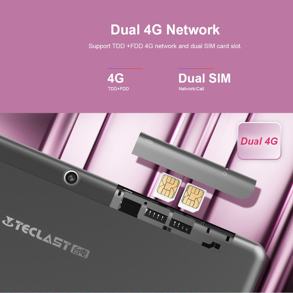 "Teclast M20 10.1"" Tablet Pc 4g Lte Phone Call Tablet Mtk6797 X23 Deca Core 4gb Ram 64gb 2560x1600 Android 8.0 6600mah Gps Wifi #3"