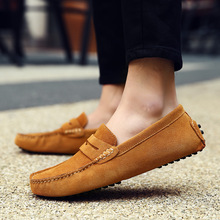 Spring and summer mens shoes suede casual peas lazy sets of feet England large size