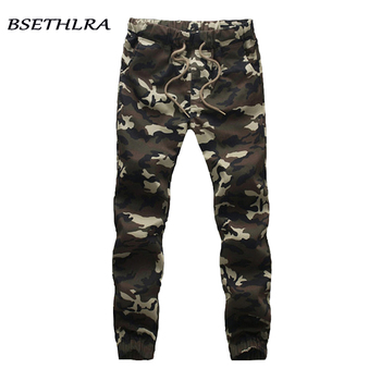 BSETHLRA 2018 New Joggers Pants Men Camouflage Military Pure 100% Cotton Spring Autumn Harem Pant Men Trousers Camo Mens Joggers