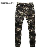 BSETHLRA 2018 New Joggers Pants Men Camouflage Military Pure 100 Cotton Spring Autumn Harem Pant Men