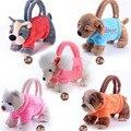 Billtera bolso de animales niños de dibujos animados de juguete bolsa de perro oso de Peluche rosa patrón de ocio 3D de peluche niñas bolsos de mano para los niños regalo