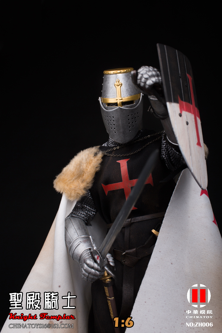 China Toy 1//6 ZH006 Medieval Templar Knight Soldier Figure Model