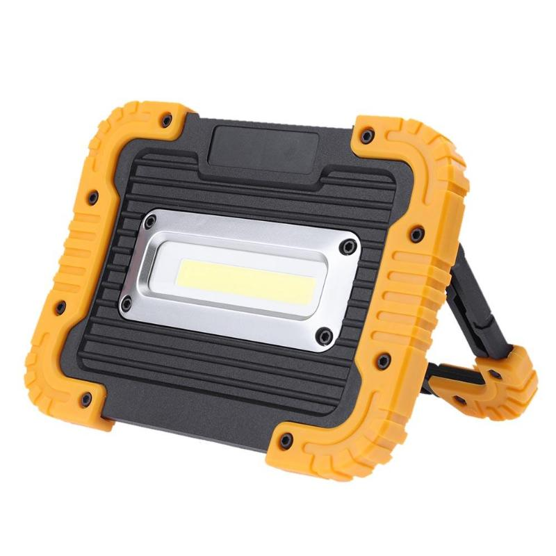 Portable 10W LED COB Working Light Outdoor Waterproof Flood Light for Camping Hiking Spot Flood Lawn Searchlight Emergency Light cob led work light waterproof lawn lamp flashlight 20w high power 2400lm outdoor hiking camping tent light portable searchlight