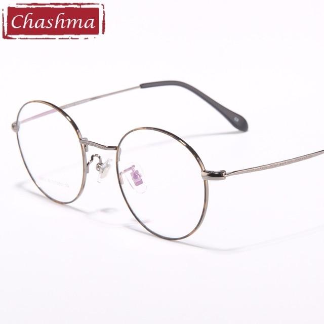 66c1bd4d01157 Chashma Marca Olho Óculos Redondos Óculos de Titânio Quadros de Qualidade  Do Vintage Masculino Óculos de