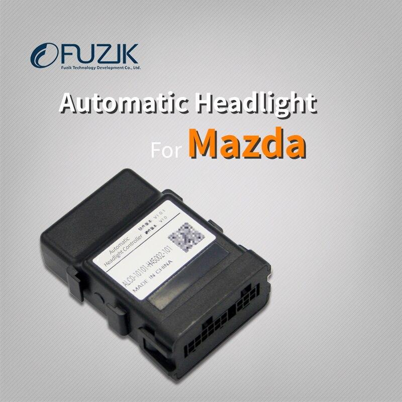 Capteur automatique de phare de voiture Fuzik automatique allumer l'ouvreur de système de contrôle de réponse de lumière pour mazda axela cx-5