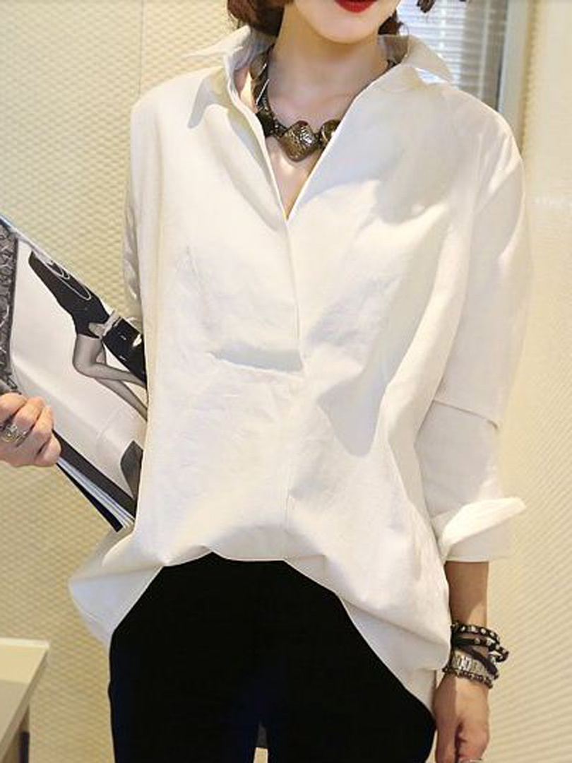 shirt uk Picture - More Detailed Picture about Women White Summer ...