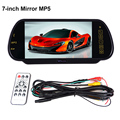 "Atacado 6 pcs 1 lote carro espelho Monitor de 7 "" cor TFT LCD carro Monitor retrovisor USB SD com MP5 FM Transmitter"