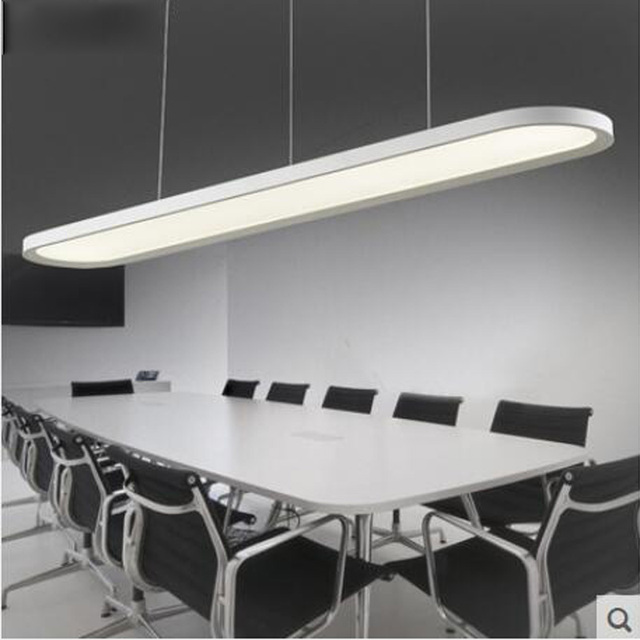T NEW LED White Simple Soft Lights 3654W Rectangular Lamp Acrylic For Study Room Office Restaurant