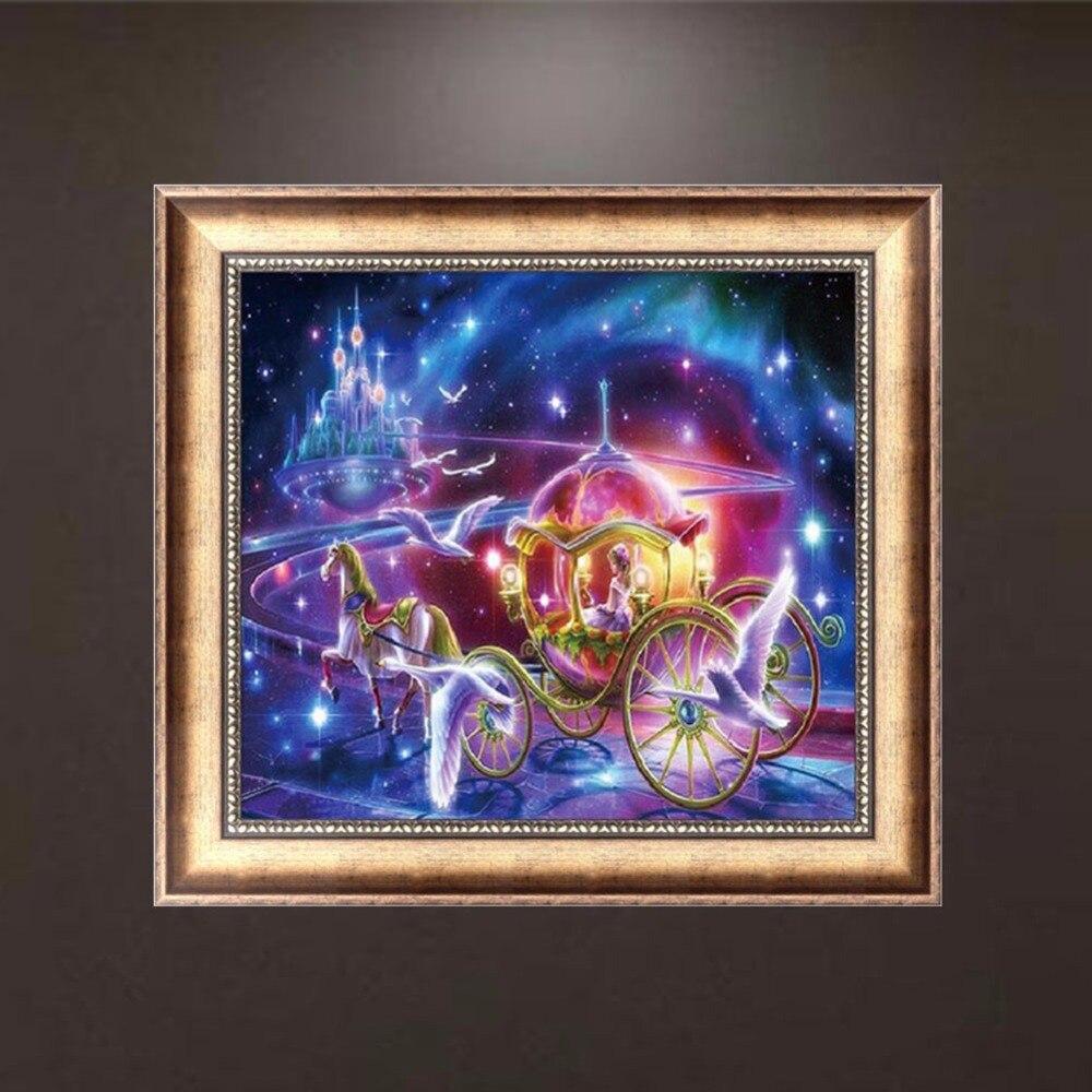 Fairy tale 5d diamond embroidery cinderella diy craft for Mosaic home decor