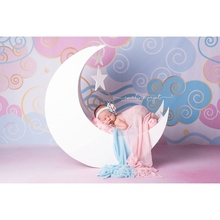 HUAYI Pink clouds photographic photography Backdrop Background Newborn Baby Photography Props Studio Birthday party Xt-5846