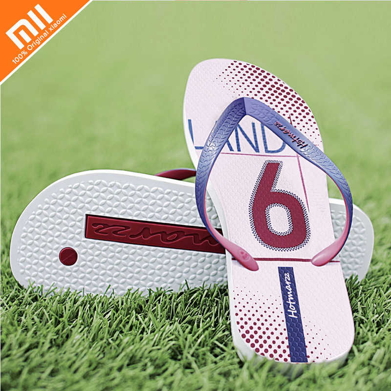 be6b5dcce16 original Xiaomi Hotmarzz Summer Men Flip Flops High Quality Beach Sandals  Non-slide PVC material
