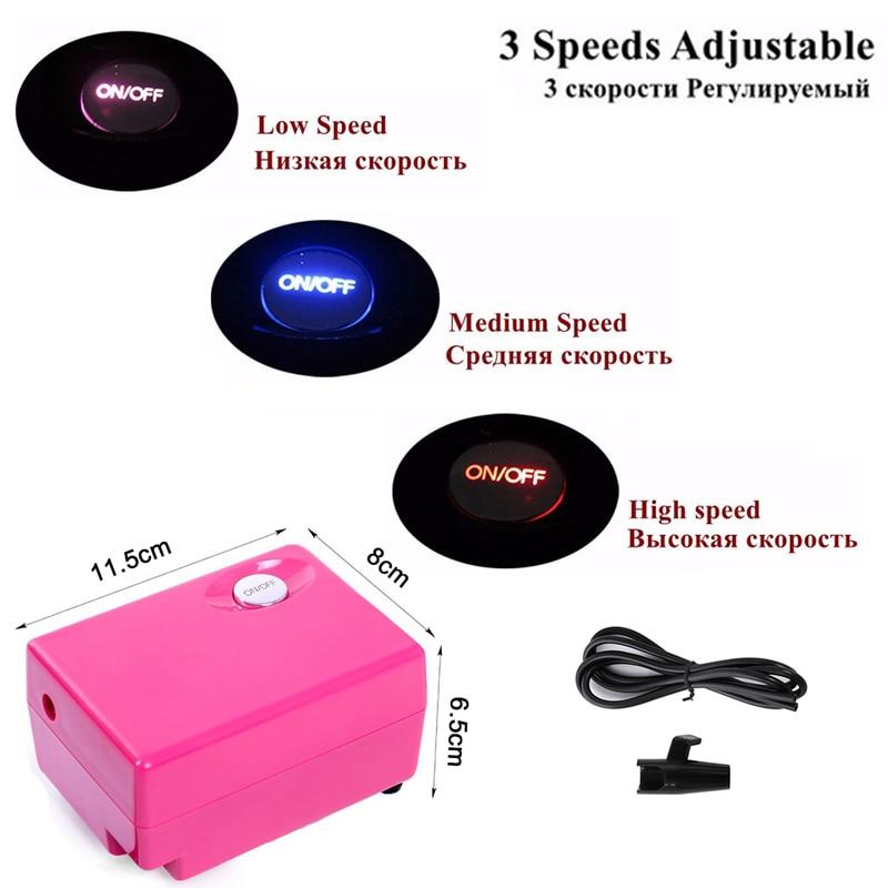 Rosa airbrush Compressor kit 0.4mm aerógrafo para Clavos arte, Cara ...