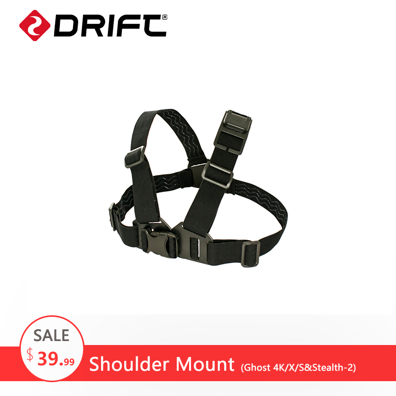 Drift Action Sports Camera Accessories Shoulder Mount Chest Mount Harness Chesty Strap for Ghost 4K/X/S and Stealth-2 gopro achmj 301 jr chesty chest harness