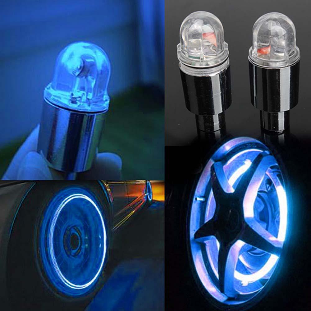 2pcs  Bicycle Bike Wheel Tire Valve Spoke 32 changes Neon Cap 5 LED Lights Lamp