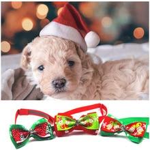 Рождественские принадлежности для домашних животных, аксессуары для кошки, собаки, Рождество, Санта, шапка для собаки, год, шапка, регулируемая кошка, Рождество, галстук-бабочка, галстук, 13 цветов