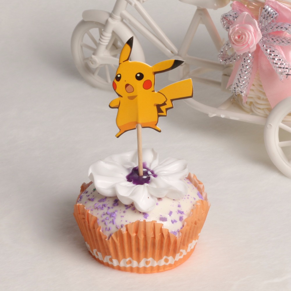 48 Teile Los Cartoon Pokemon Pikachu Kinder Geburtstagsparty Cupcake