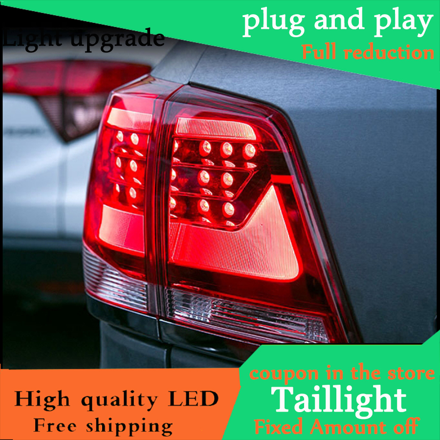 Car Styling Tail Light Case For Toyota Land Cruiser Taillights 2008 2015 LED Tail Lamp Rear
