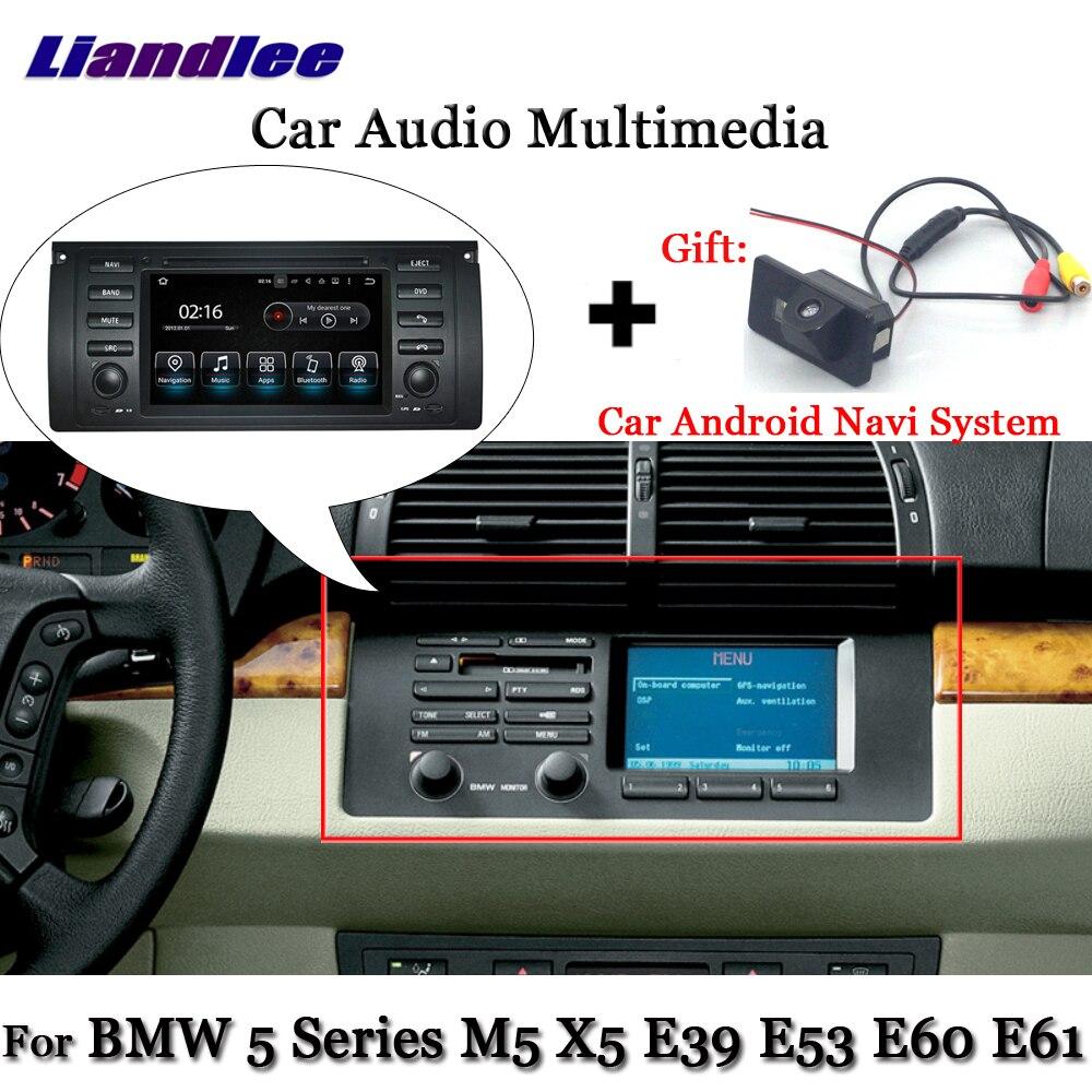 Liandlee Android Pour BMW 5 Série M5 X5 E39 E53 E60 E61 1999 ~ 2006 Stéréo Radio TV Carplay Caméra GPS Navi Navigation Multimédia