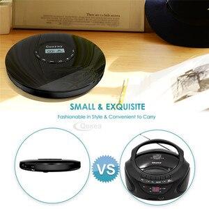 Image 5 - 새로운 스타일 cd 플레이어 휴대용 헤드폰 1400 mah 충전식 배터리 shockproof 개인 cd 음악 디스크 워크맨 플레이어 qosea