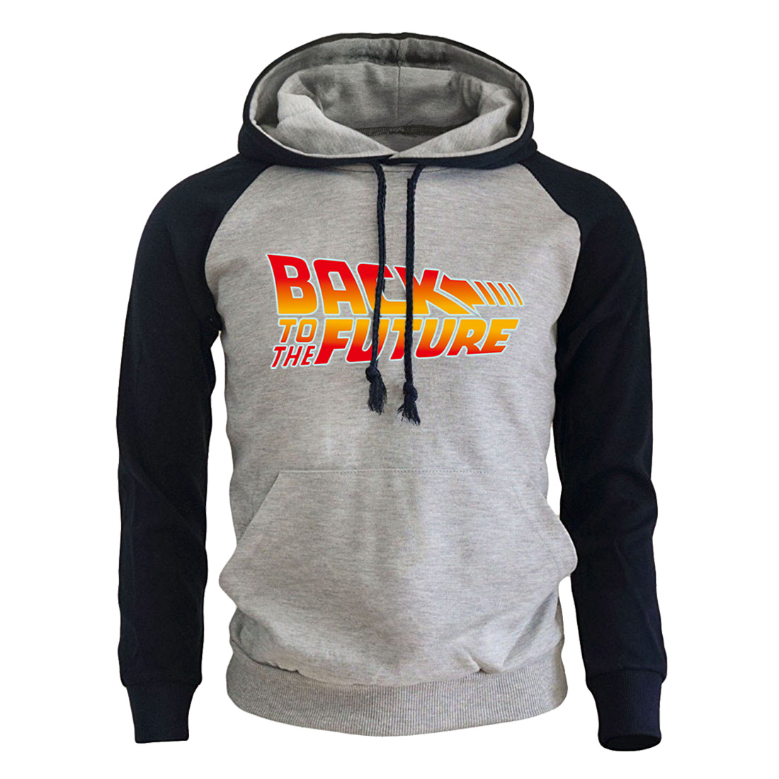2019 New Arrival Fleece Homme Hoodies Back To The Future Letter Printed Men's Hooded Sweatshirts Hip Hop Streetwear Mens Hoody