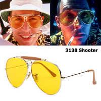 Jackjad nova moda 3138 shooter estilo aviação do vintage óculos de sol círculo metal design da marca óculos de sol com capuz