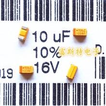 100 шт./лот SMD танталовые конденсаторы 106C 10 мкФ 16V C 6032/C полярность 16V10UF