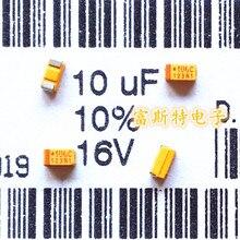 100 قطعة/الوحدة smd المكثفات التنتالوم 106C 10 فائق التوهج 16 فولت c 6032/c قطبية 16V10UF
