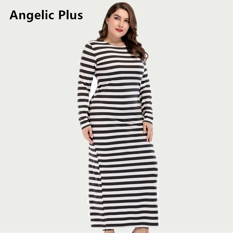2018 Plus size Spring Autumn Max Long Dress Women Lady s Party Wedding Prom High Quality
