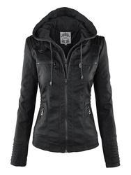 Готическая куртка из искусственной кожи женские толстовки зима осень мотоциклетная куртка черная верхняя одежда искусственная кожа