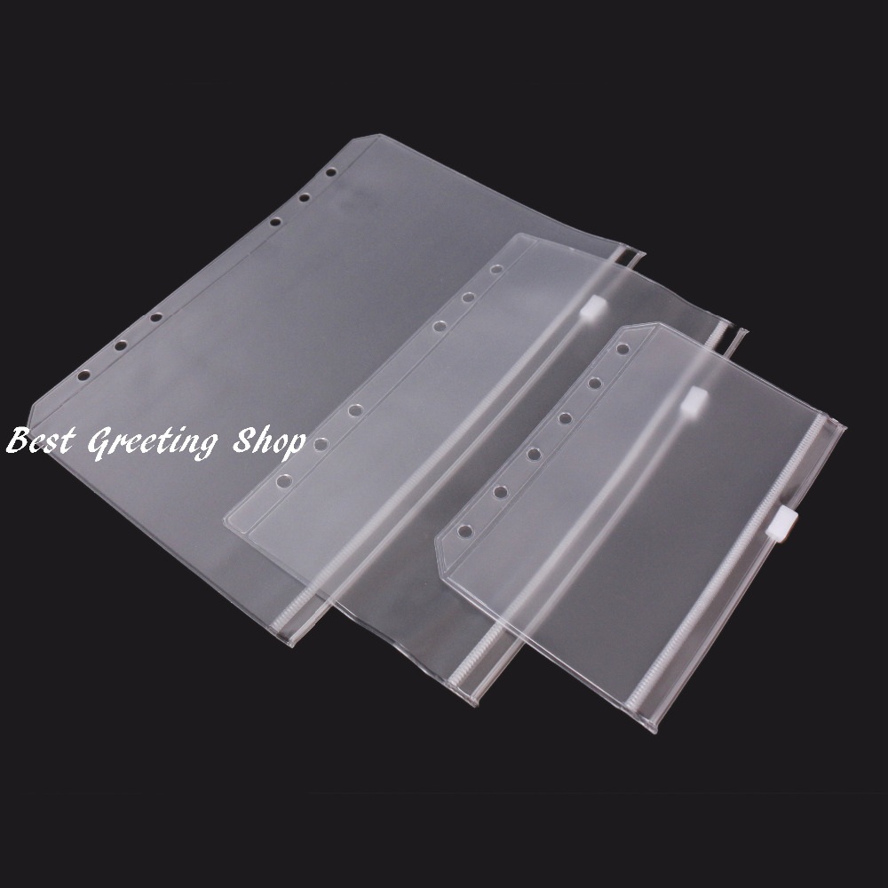 Plastic sleeve filofax a5a6a7 refills loose leaf pockets pvc plastic sleeve filofax a5a6a7 refills loose leaf pockets pvc zipper binder pocket in cards invitations from home garden on aliexpress alibaba kristyandbryce Choice Image