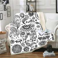 Anime jeter Couverture éléphant Polaire Deken Couverture Polaire Adulte Cobijas Para Cama Plaide décoration Cobertor Cama Cobijas