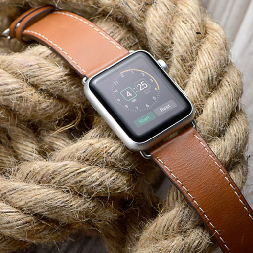 For Apples Series 4 Genuine Leather Watch Band Strap For