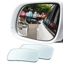 YASOKRO, 1 пара, Автомобильное Зеркало для слепых зон, регулируемое, вращение на 360 градусов, широкоугольное зеркало, квадратное выпуклое зеркало заднего вида, Автомобильное Зеркало