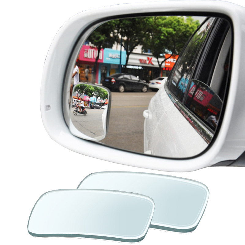 YASOKRO 1 Pair Car Blind Spot Mirror Adjustable 360 Degree Rotation Wide Angle Mirror square Convex Rear View Mirror Car mirror 2 in 1 car blind spot mirror wide angle mirror 360 rotation adjustable convex rear view mirror view front wheel car mirror