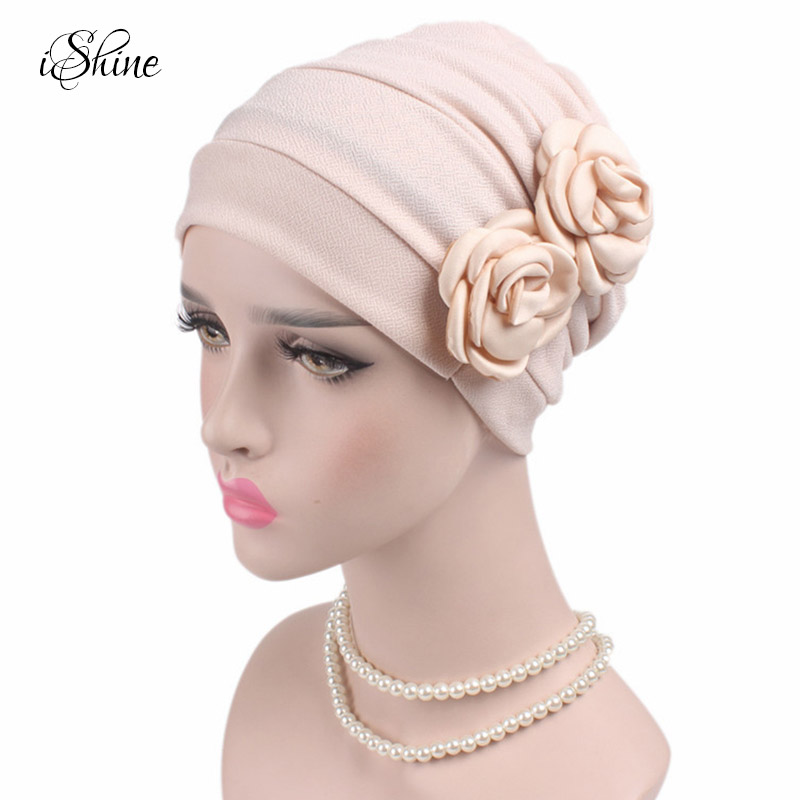 Women Lace Floral Headscarf Muslim Large Cap for Cancerous Patients Femme Turban Scarf Beanies Caps Chemotherapy Hat Hair Cover imucci 13 colors solid muslim turban cap women elastic beanies hat bandanas big satin bonnet indian women turban black red